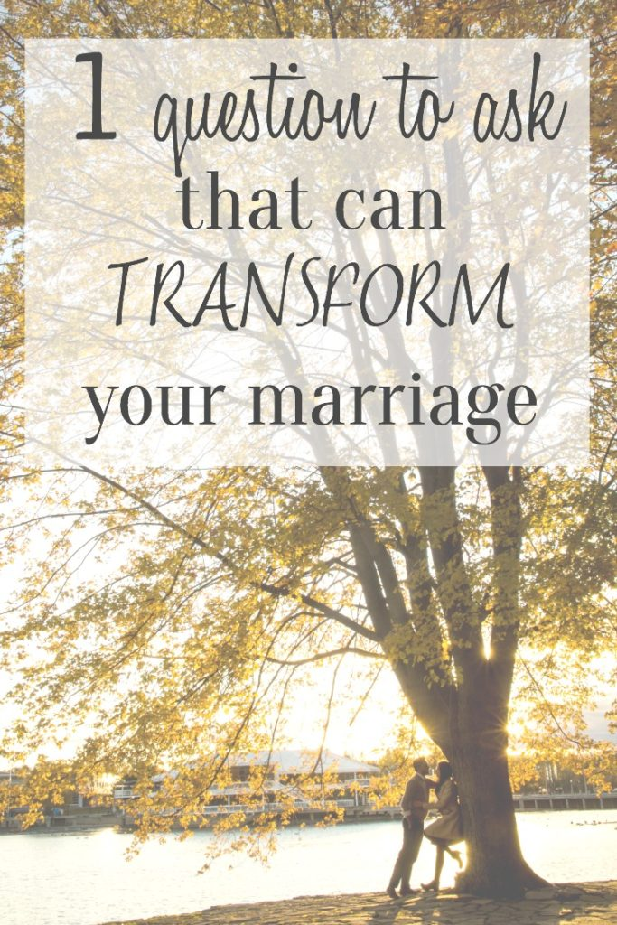 This one question will shine a new light on what direction your marriage is going. Even the hardest marriages can benefit from viewing love from this angle. Wives, be sure to read this!